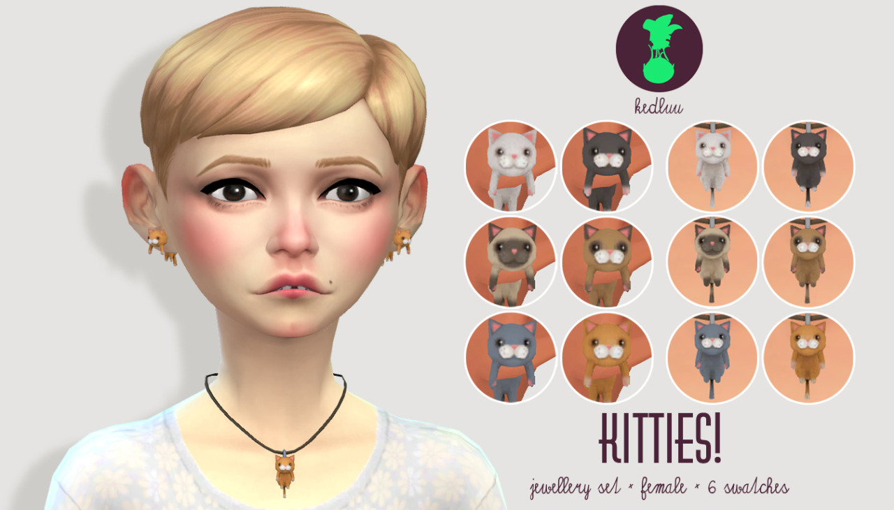 [KEDLUU] KITTY JEWELLERY SET