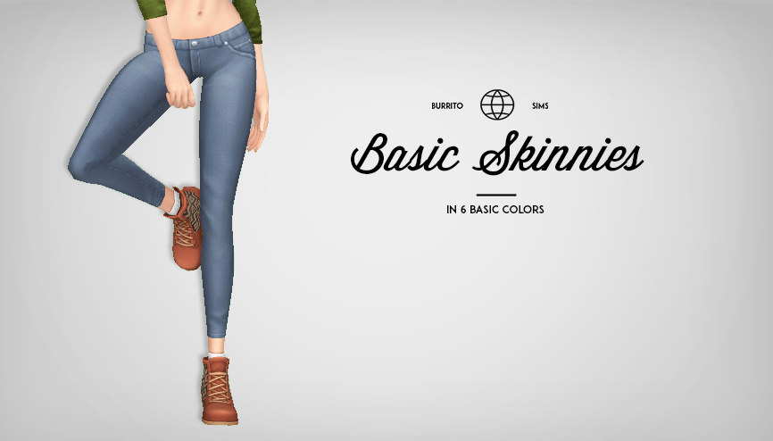 Basic Skinnies for Females by BurritoSims