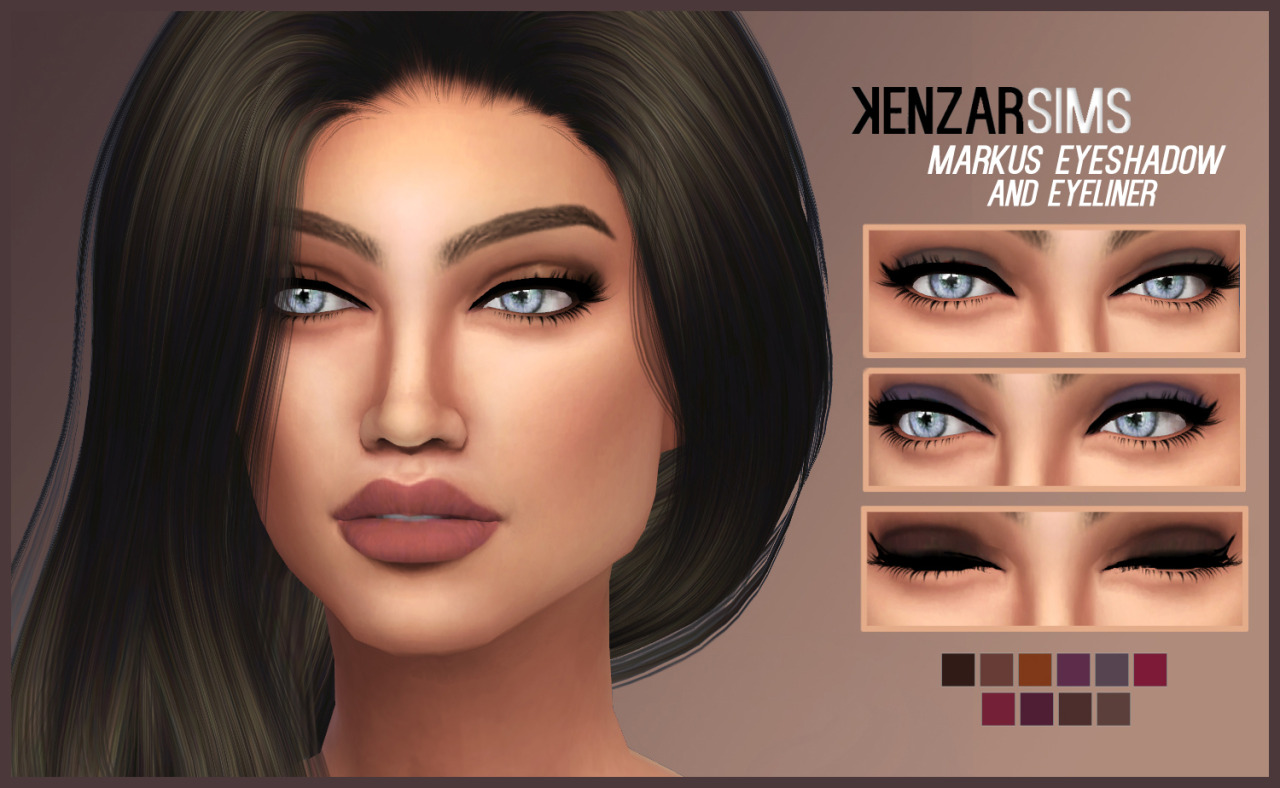 kenzar-markus eyeshadow (and eyeliner) + lipstick