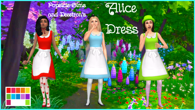 Alice Dress by Deeetron and Popsicle-Sims