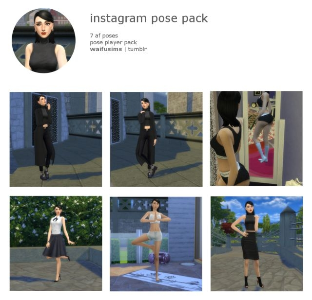Instagram Pose Pack by WaifuSims