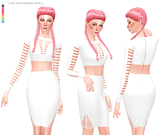 WO-PIECE BANDAGE DRESS by its-leeloo