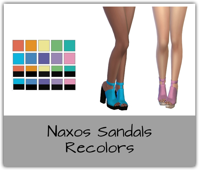 Naxos Sandals Recolors by Maimouth
