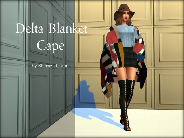 3t4 Delta Blanket Cape by sherazade-sims