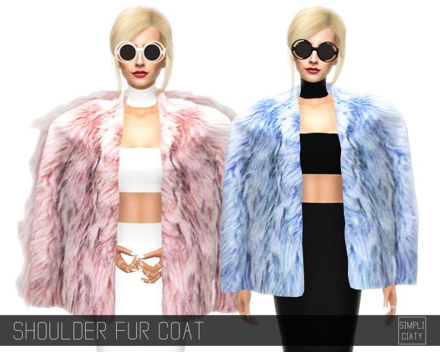 Shoulder Fur Coat by Simpliciaty