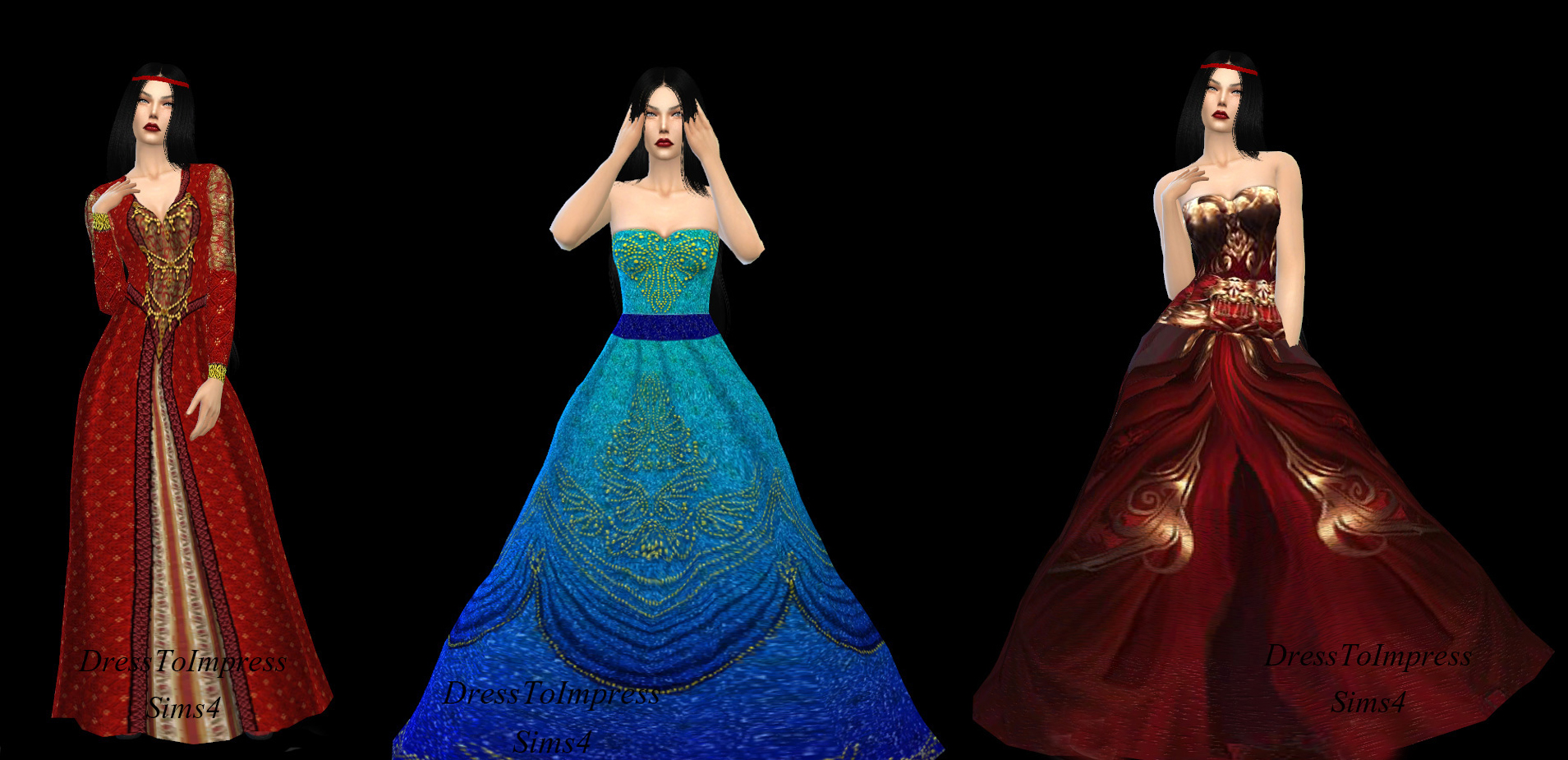 Fantasy Dresses by Itsdresstoimpresssims4