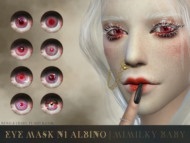 Albino Eye Mask N1 by mimilky