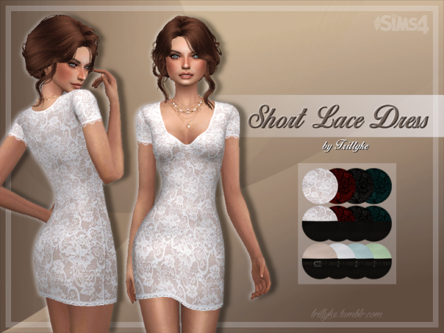 Short Lace Dress by trillyke