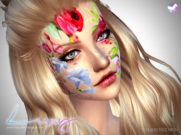 Flowers Face Mask by LuxySims3