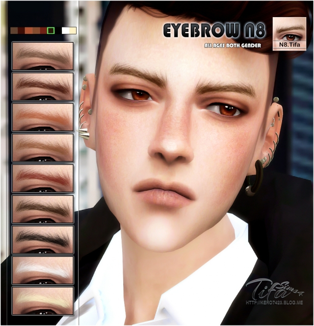 S4 Eyebrow N8 Male & Female by Tifa