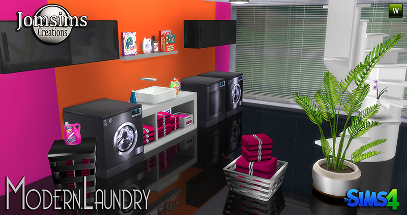 Modern Laundry Set by JomSims