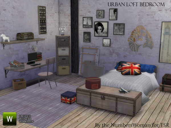 Urban Loft Bedroom by TheNumbersWoman