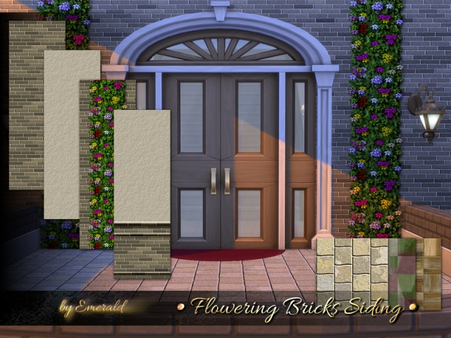 Flowering Bricks Siding by emerald