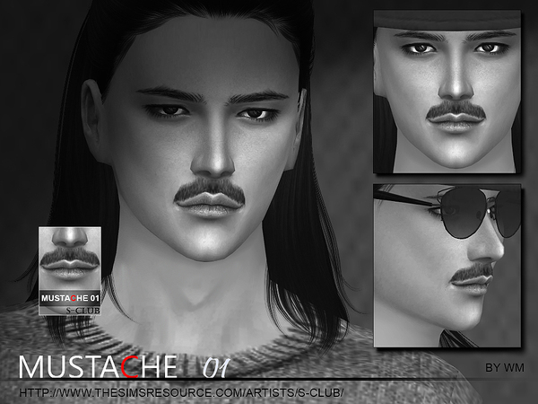 S-Club WM thesims4 Mustache 01
