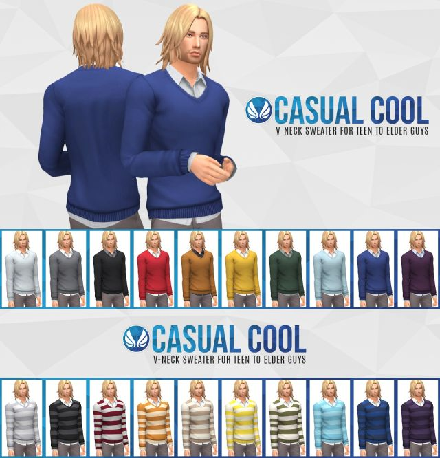 Casual Cool - V-neck Sweater by Peacemaker IC