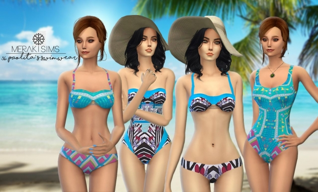 Paolitas swimwear set by merakisims