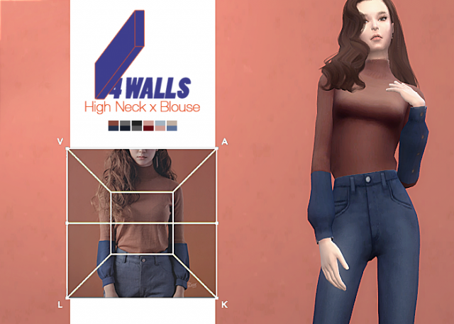 4 Walls High Neck x Blouse by waekey