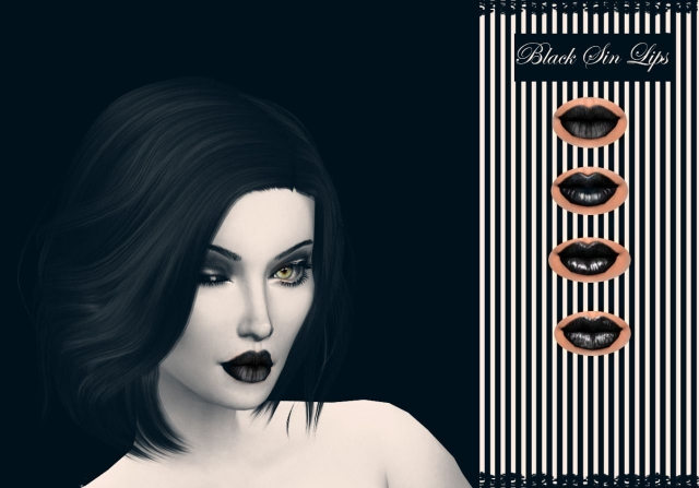 Black Sin Lips by itsdresstoimpresssims4