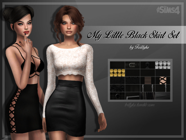 My Little Black Skirt Set by trillyke