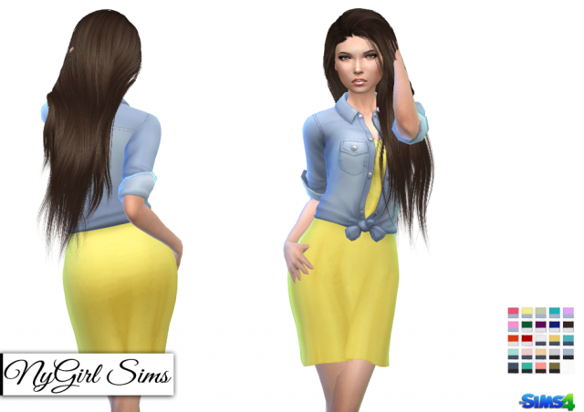 Sundress with Denim Shirt by NyGirl