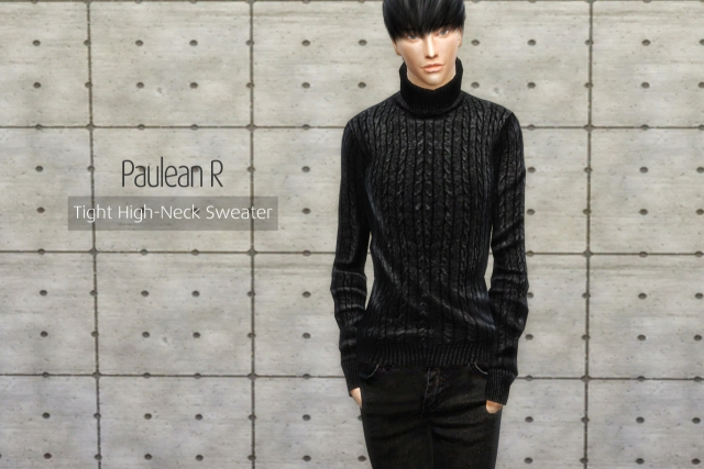 Tight High Neck Sweater by pauleanr