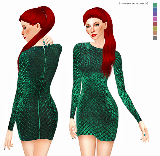 TEXTURED VELVET DRESS by its-leeloo