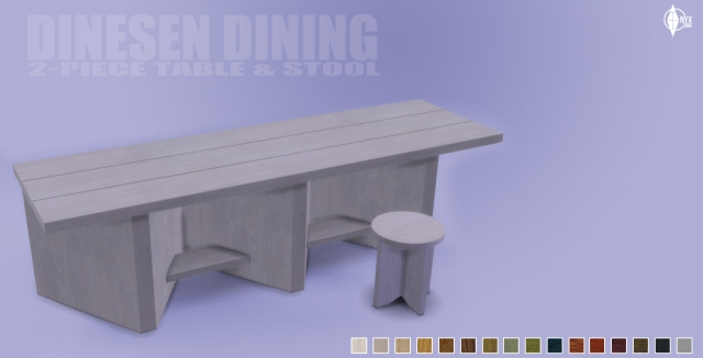 The Dinesen Dining Set by Kiara Rawks