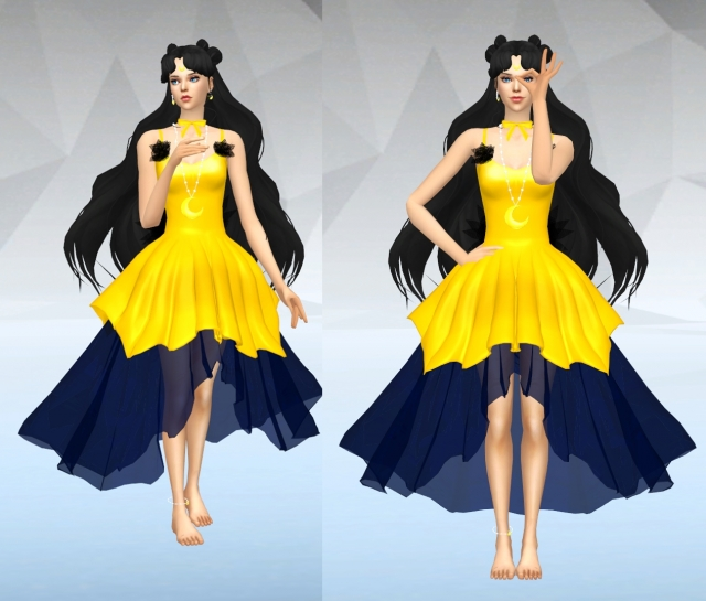 Luna - Human Form Dress + Hair by SilverMoon