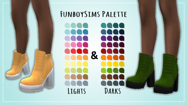 Made For Walking - A Dreamteamsims/Pixiecat Boot Recolor by LeeleeSims1