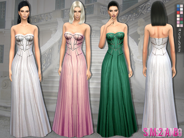 140 - Gery dress by sims2fanbg