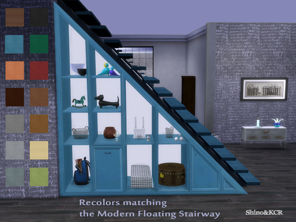 Under Stair - Shelves Recolors by ShinoKCR