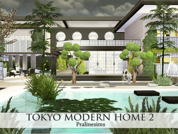 Tokyo Modern Home 2 by Pralinesims