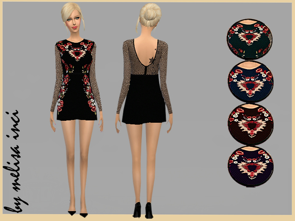 Midnight Garden Mini Dress by melisa inci