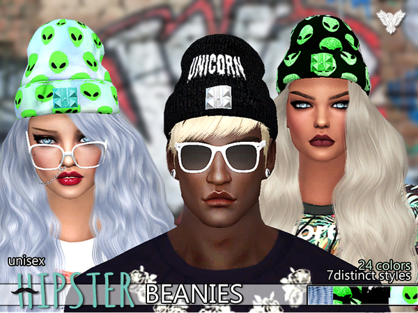 PZC_Hipster Fantasy Beanies Pack by Pinkzombiecupcakes