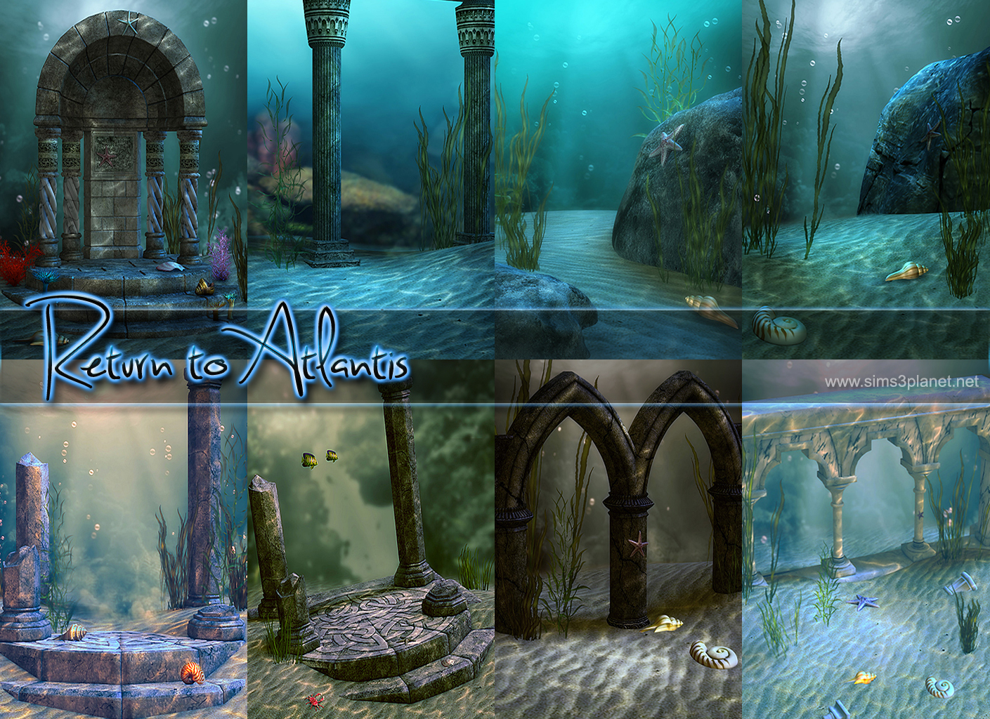 Return to Atlantis backgrounds by lorelea