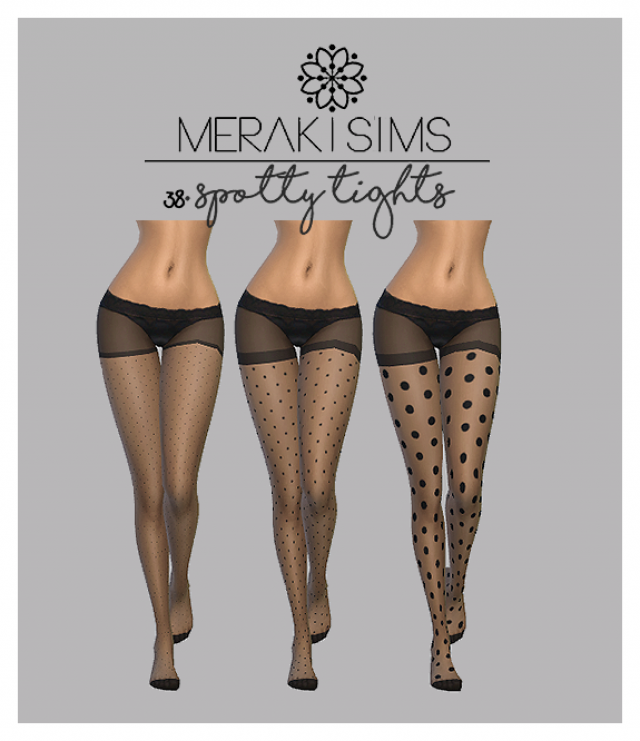 Spotty tights by merakisims