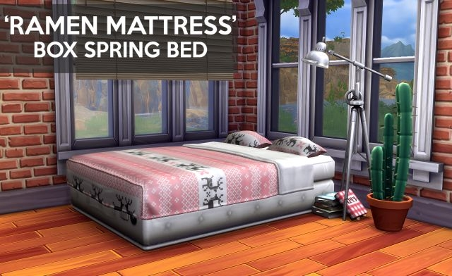 Ramen Matress Box Spring Bed by Gohliad