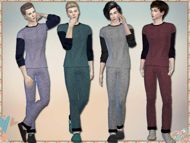 Loungewear Set For Men by simlark