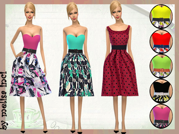 Strapless Casual Dress by melisa inci
