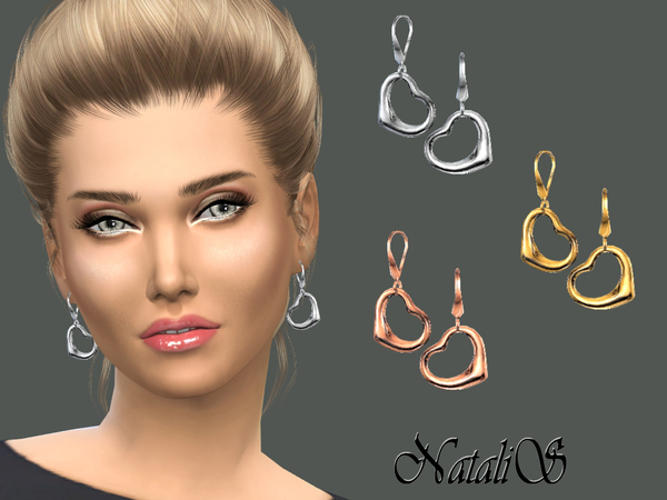 NataliS_Heart drop earrings
