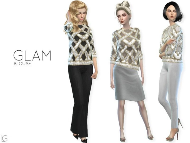 Glam blouse by linegud