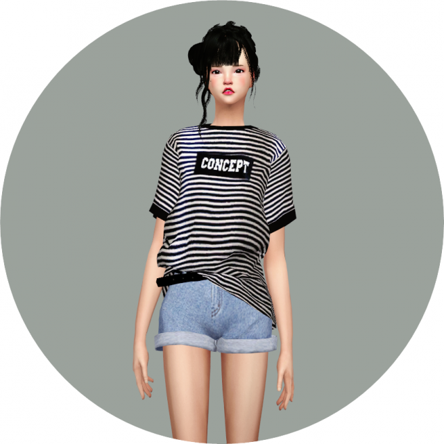 Boxy Tee, Boxy Sleeveless and Belt Hot pants by marigold