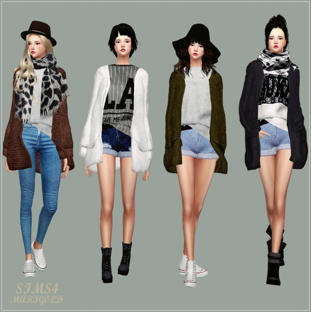 ACC_Loose-fit Cardigan by marigold