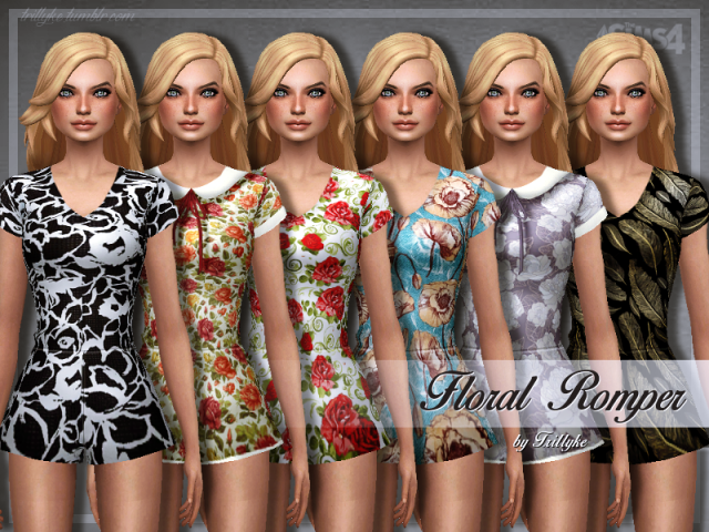 Floral Romper by trillyke