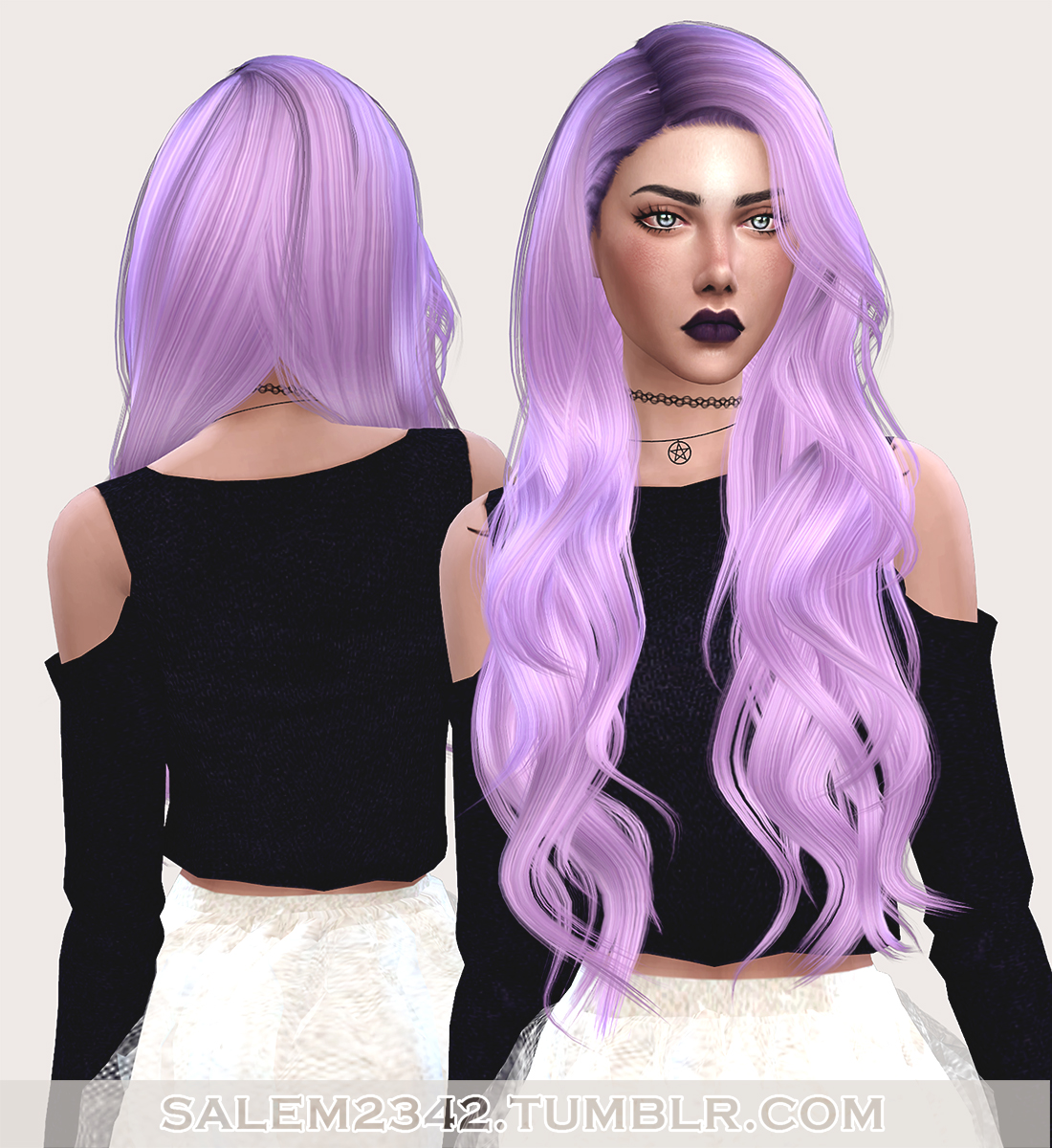 salem- Stealthic Envy Hair Retexture (TS4)