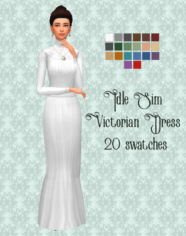 Idle sim victorian dress by theidlesim