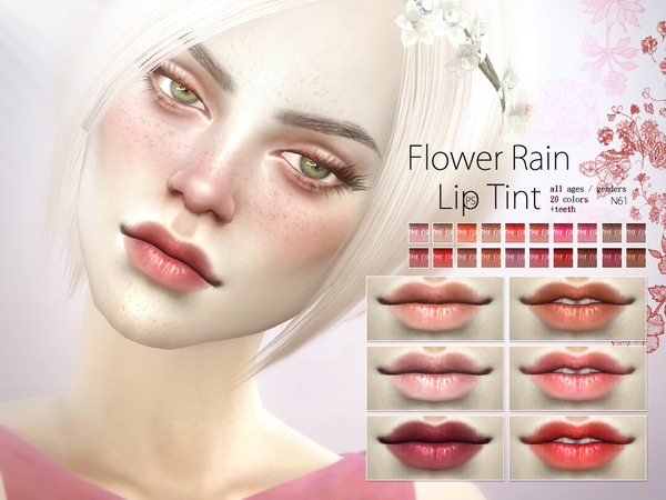 Flower Rain Lip Tint N61 by Pralinesims