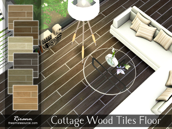 Cottage Wood Tiles Floor by Rirann