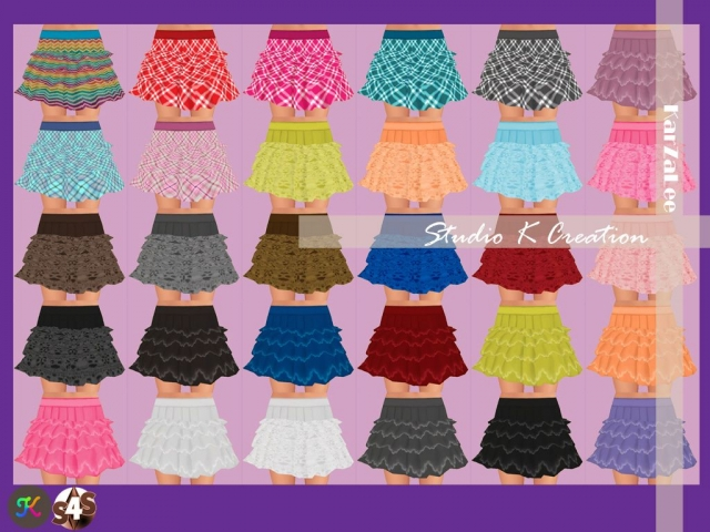 4Layer skirt for female by karzalee