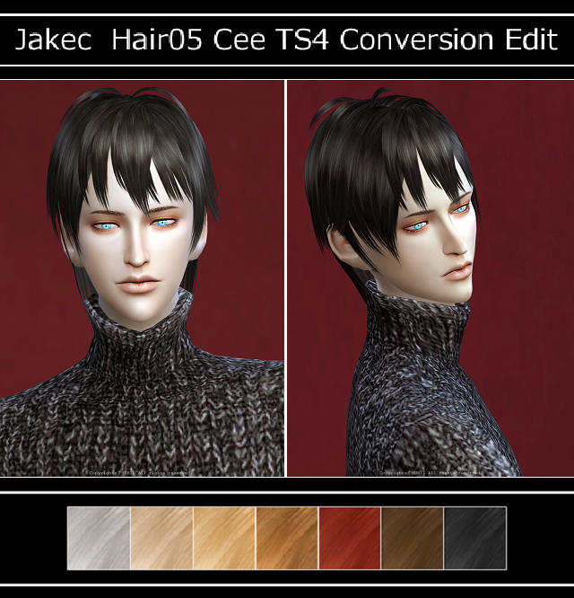 Jakec Hair05 Cee TS4 Conversion Edit by Yuri